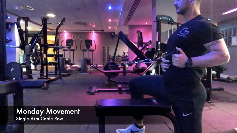 Monday Movement - Half kneeling single arm cable row