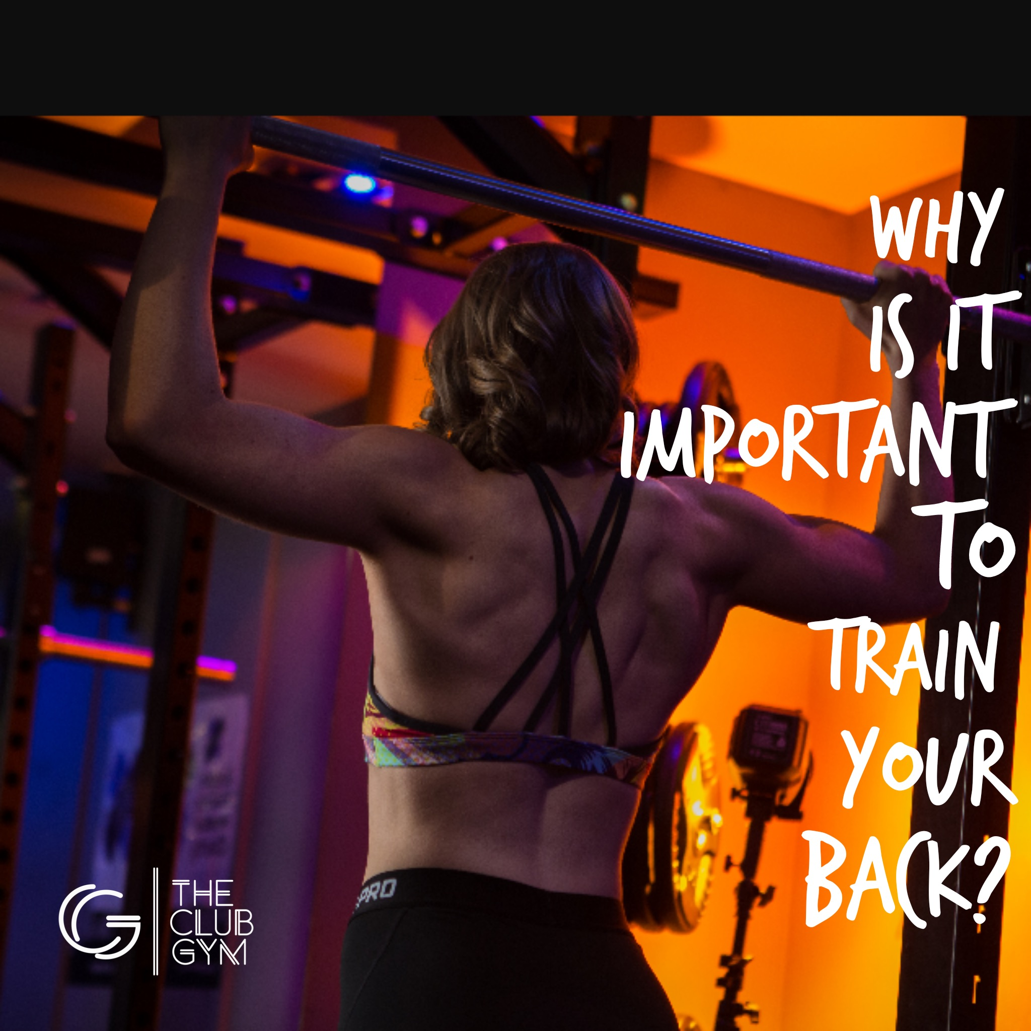 Why is it important to train your back